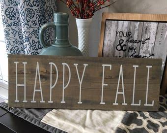 Happy Fall Sign   Fall Sign   Denneystudio