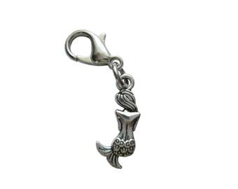 Mermaid pendant charms bracelet 3d Pendant