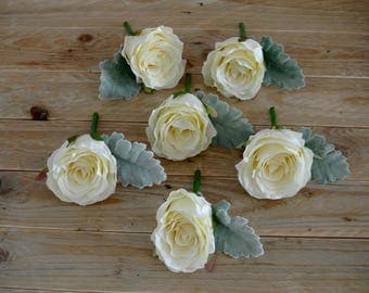 A Ivory Rose buttonhole