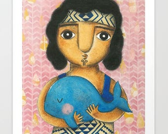 The Whale Rider. Art Prints.