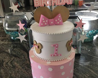 1  double layer photo prop cake &  Storage