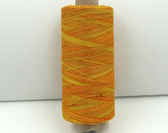 Valdani Unique Twist Overdyed Cotton-Polyester 40wt Thread: #T8 Subtle Daffodils
