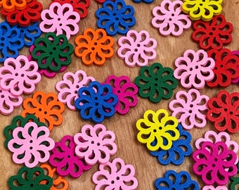 2 hole Cute wooden rainbow buttons, 19mm mixed buttons, sewing, crafts, scrapbooks, 10 per pack