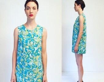 moving sale % Vtg 60s 70s Mini Dress