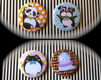 Set of 8 magnets 56 mms 'Animals'