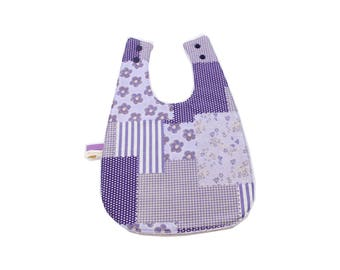 Bib 0-12 months / purple Patchwork fabric