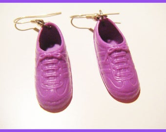 ♥ Earrings original - purple ♥ doll shoes