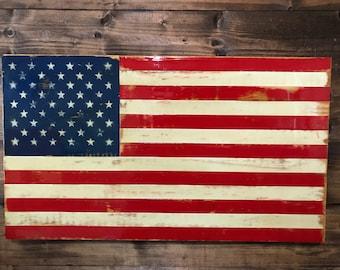 Distressed Star-Spangled Banner - American Flag -Military Veteran Made - Wood Flag - Wall Decor - Wall Hanging - Patriotic - Handmade - Sign
