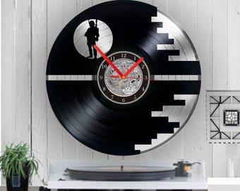 Star Wars Silver vinyl clock Star Wars uhr vinyl uhr vinyl record clock Star wars clock home decor Birthday gift wall clock anniversary gift