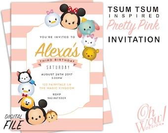 Tsum Tsum Inspired Party Invitation