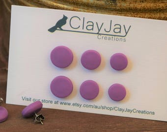 Wisteria polymer clay stud earrings