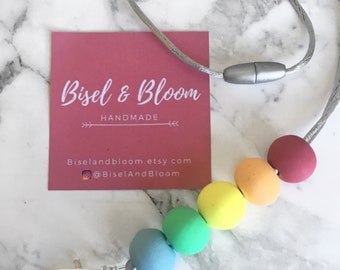 The Pastel Rainbow Clay Lanyard
