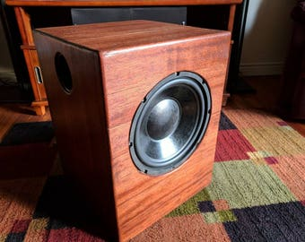 Mahogany home theater subwoofer.