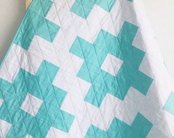 Aztec Baby Quilt, Modern Baby Quilt, Baby Quilt Blanket,Handmade Quilts, Handmade Quilt For Sale