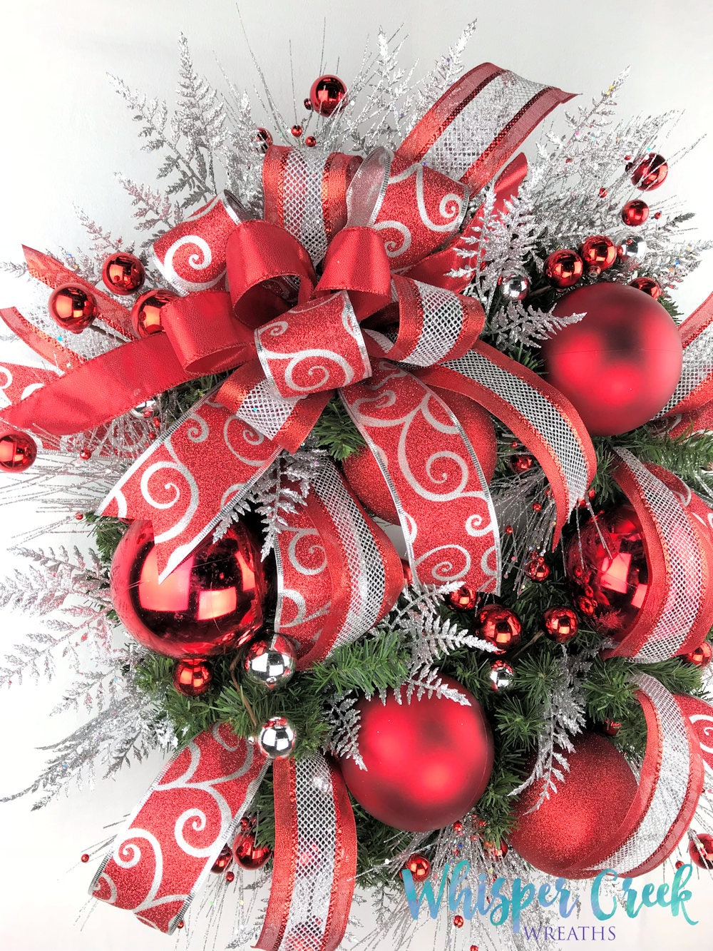 Christmas Front Door Wreath - Holiday Wreath - Red Christmas ...