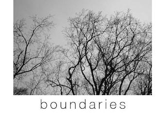 boundaries zine