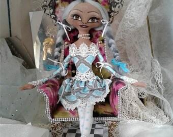 Freedom--artdoll-cloth doll-Afro-Black-African-soft-custom doll-handmade-collectors item-fancy doll