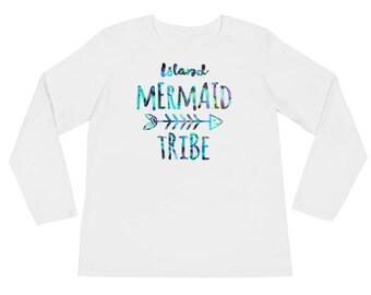 Island Mermaid Tribe Ladies' Long Sleeve T-Shirt