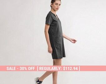 Grey Dress,Little Black Dress,summer Grey Dress,short Grey dress,Basic Grey Dress,short sleeve Grey Dress,classic Grey dress,basic dress