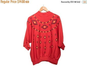 SALE SALE Vintage Red Southwestern Shirt FREE Shipping
