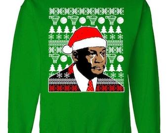 Jordan Crying Meme (Ugly Christmas Sweater Design) - Crewneck Sweater