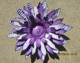 Recycled Metal Flower/ Yard Art/ Garden Art/ Metal Art