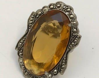 Vintage Art Deco Ring .  3 ring size