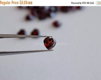 ON SALE Garnet 5 mm Faceted Hearts, Good Quality Gems. Price per piece.