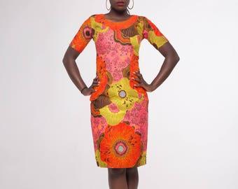 Elisa African Print Dress