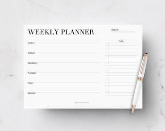 Weekly Desk Planner, Weekly Printable Planner, Office Weekly Planner, Girlboss Planner, Productivity Planner, Printable Weekly Calendar