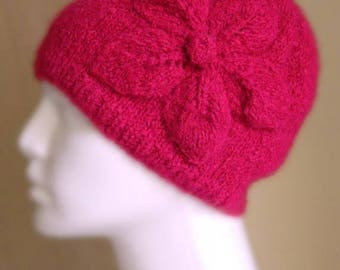 Christmas in July Women's Knit Hats, Knit Hat, Pink Knit Hat, Women's Winter Hat, Winter Hat, Winter Accessories, Knitted Warm Hat, W