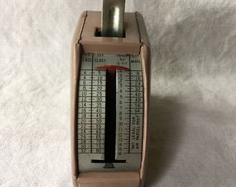 Vintage Metal Postage Scale, Letter and Package Scale, Office Supply