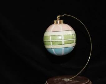 Plaid Christmas Ornament