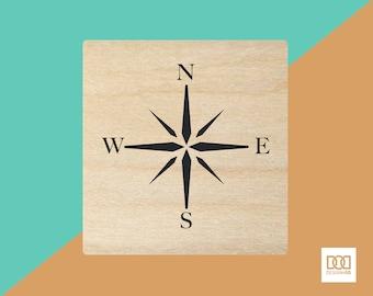 Compass - 3cm Rubber Stamp (DODRS0101)