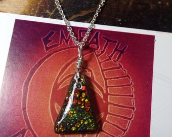 Ammolite Sterling Silver Necklace