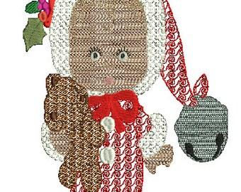 Christmas Bear colorwork machine embroidery,3 designs,8 formats(dst,exp,jef,hus,pes,vip,vp3,xxx),instant download,1 zip file