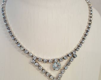 Vintage Kramer Bling Rhinestone Necklace