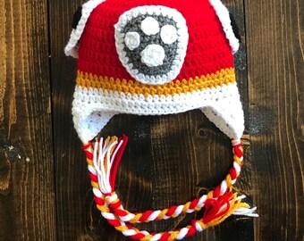 Crochet Marshall Paw Patrol Hat