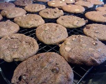 Homemade Chocolate Chocolate Chip Cookies - 24 Cookies