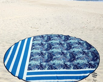 "Large Round Beach Towel Circle Rounded Towels 150cm (59"") – Ref Mix"