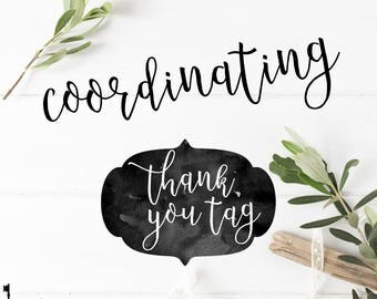 Coordinating Thank You Tags to Coordinate with Key Paper Company Invitations