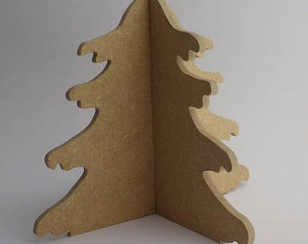 Christmas tree wooden decorate yourself
