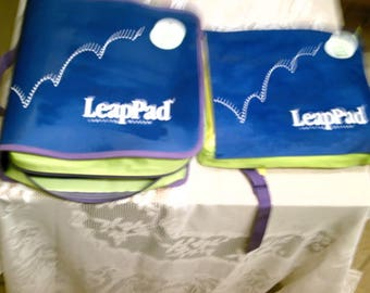 LeapFrog 2 Learning System Consoles w/ 13 cartridges   10 Books 2 Cases