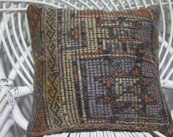 Turkish kilim pillow floor cushion striped kilim pillow 16x16 pillow cover embroidery pillow cushion cover kilim pillows home decor 3742