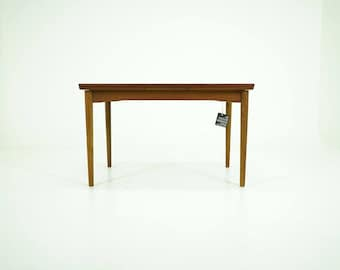 309-183 Danish Mid-Century Modern Teak Dining Table Kitchen Pull Out Leaves
