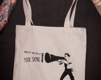tote bag / purse for vinyl records