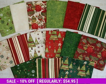 SALE! Believe in the Season - (15) Fat Quarters + panel - Clothworks by Sue Zipkin