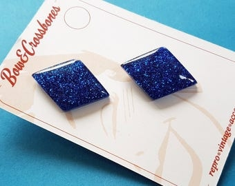 Justine Diamond earrings - Royal blue