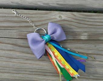 Ribbon tassel, Rainbow ribbon tassel, Planner tassel, TN tassel, Tassel accessories, Ribbon purse charm, Tassel zipper pull, Rainbow