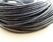 2 m cordon en cuir noir 1,5mm - CC15-0887